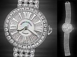 diamond studded watch