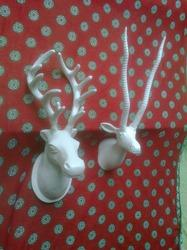 Wall Mount Metal Stag Head