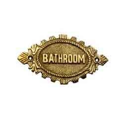 Bathroom Signage (Oval)