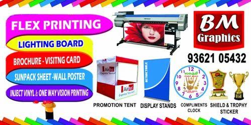 Advertising Services Flex Printing Sign Board Vinyl