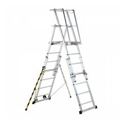 telescopic platform ladder