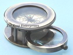 Magnifying With Glass Compass