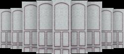 scratchproof plastic door