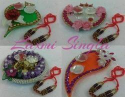 Roli Chawal Platter With Rakhi