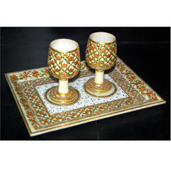 Marble Beautifuly Crafted Wine Set