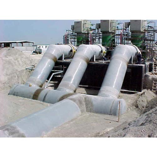 Process pipes fittings with values frp duct lines