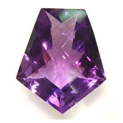Cross Cut Amethyst Gemstone