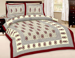 designer exclusive 3 pcs floral print double bed sheet