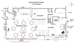 Banquet hall interior design in india for Banquet hall floor plan