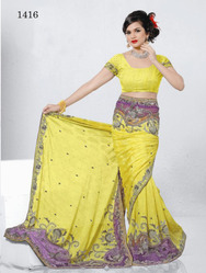 Yellow Designer Sarees