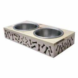 Wood Dog Bowls