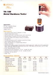 Digital Hardness Tester -TH 180