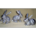Aluminum Rabbit Sculpture