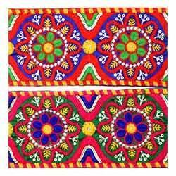 Parsi Multi Embroidery Lace
