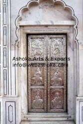 Silver Mandir Door & Antique Doors - Hand Carved Door Exporter from Udaipur pezcame.com