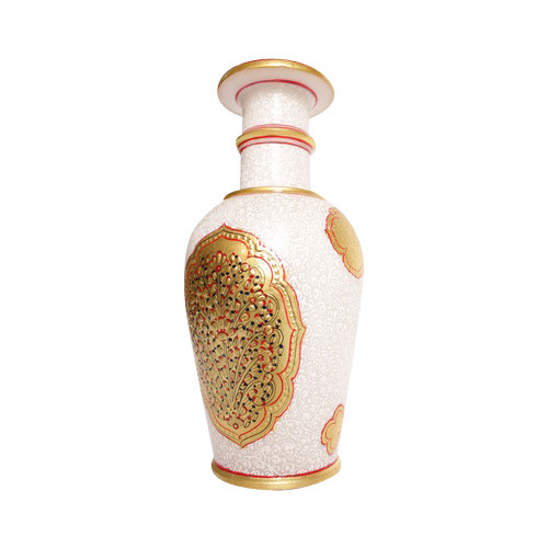 Marble Vase with Gold Work