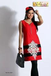 Red Tunic Kurti Party Wear