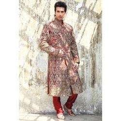 Wedding Red Sherwani
