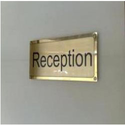 anodized aluminum name plate