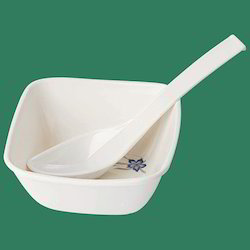 Plastic Bowl with Spoon