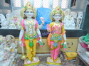 God Vishnu Laxmi Marble Statues