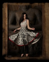 Readymade Salwar Kameez White & Black