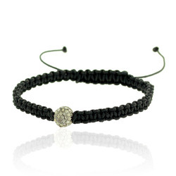 Diamond Bead Macrame Bracelet