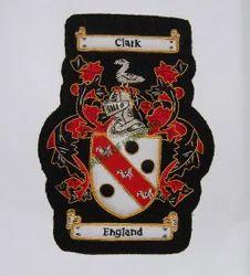 Clark/Englant B/B Single Embroidered Badge