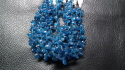 Neon Apatite Faceted Pear Briolette