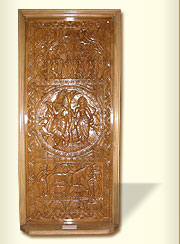 Wooden Door (Carved Radha Krishna)