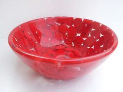 Red Artificial Pebbles Washbasin