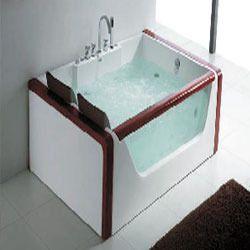 Rectangular Twin Seater Whirlpool Bathtub