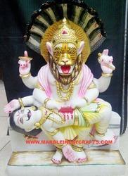 Marble Narsimha God Statue
