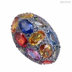 multi sapphire gemstone beads