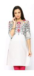 Chic Printed Kurta With Screen Print