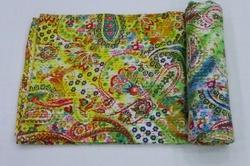Kantha Paisely Tie Dye Bed Cover