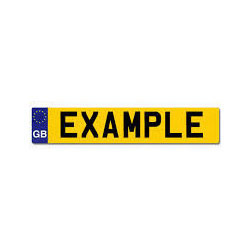 rear number plate
