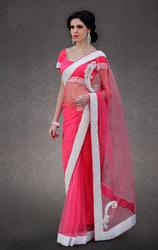 Marvelous Red Border Saree Blouse