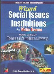 wizard social issues & institution for mains exams
