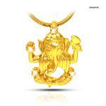 the big ganesh gold plated real diamond pendant