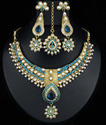 Red Stone Kundan Necklace Set