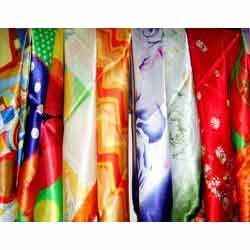 Multi Color Satin Fabric