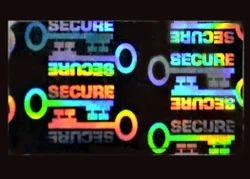Secure Key  Tamper Evident Hologram labels