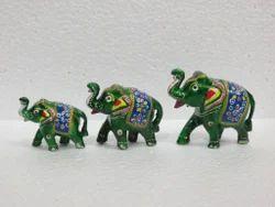 Meenakari Elephant Set