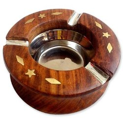 Curved Wooden Ashtray
