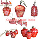 Hand Painted Red Cone Painting Cow Bells - Indian Cowbell