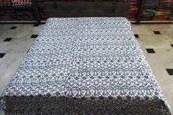 Cotton Kantha Ikat Bed Cover