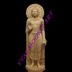 Marble Standing Buddha Statues