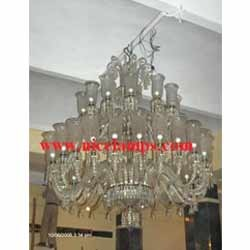 Cut glass chandeliers elegant glass chandeliers manufacturer from designer glass chandeliers get best quote aloadofball Gallery