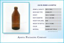 200 Ml Round G-28 Bottle